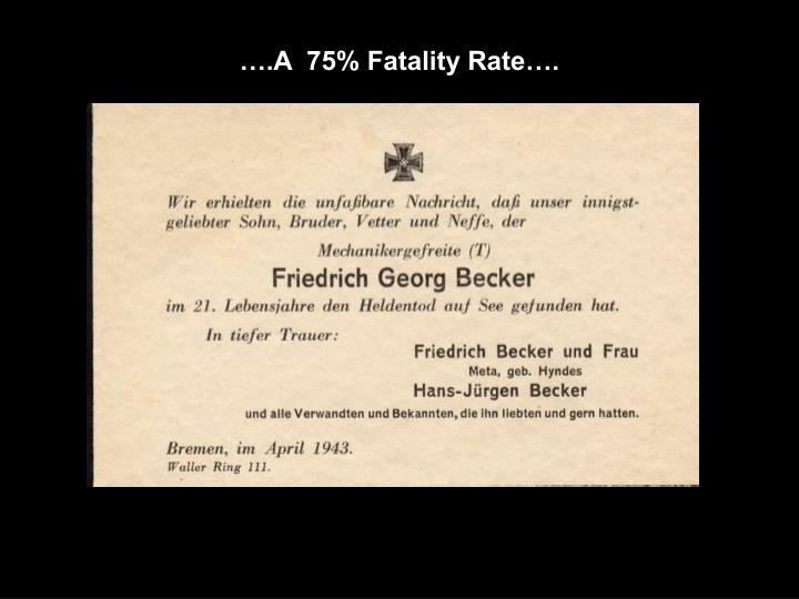 ….A  75% Fatality Rate….