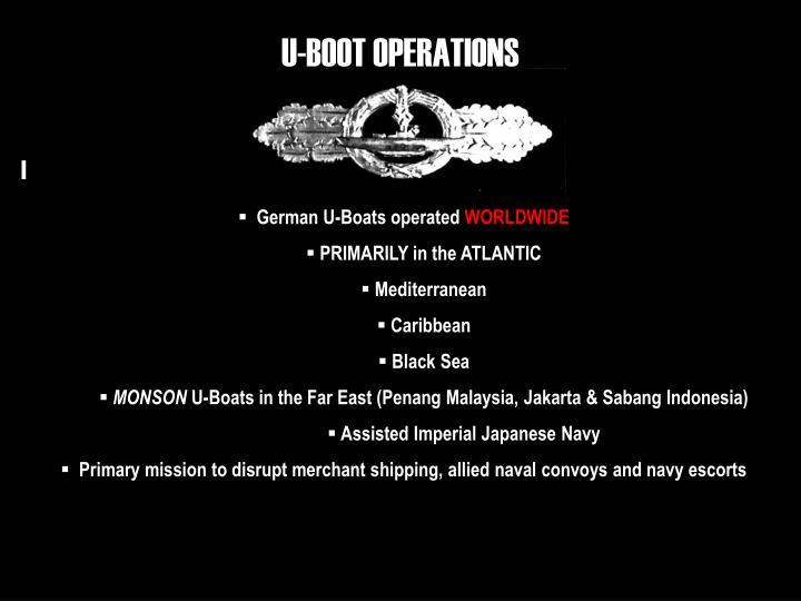 U-BOOT OPERATIONS