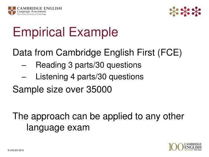 Empirical Example