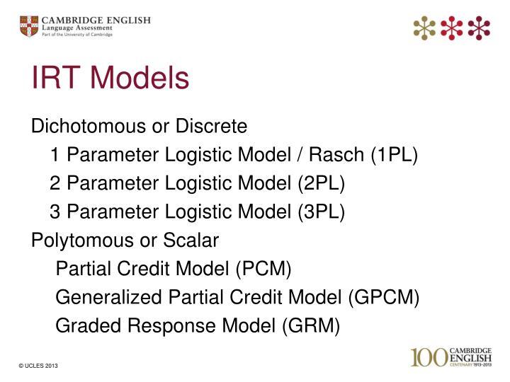 IRT Models