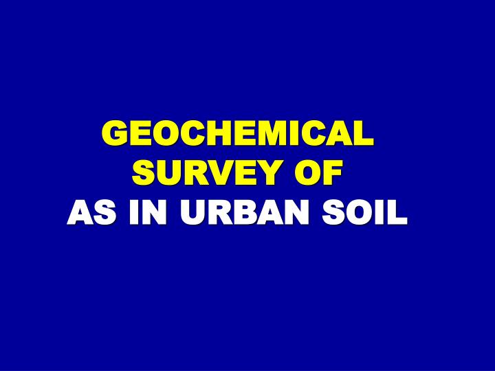 GEOCHEMICAL