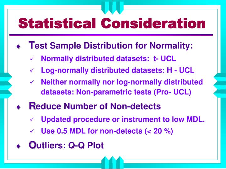 Statistical Consideration