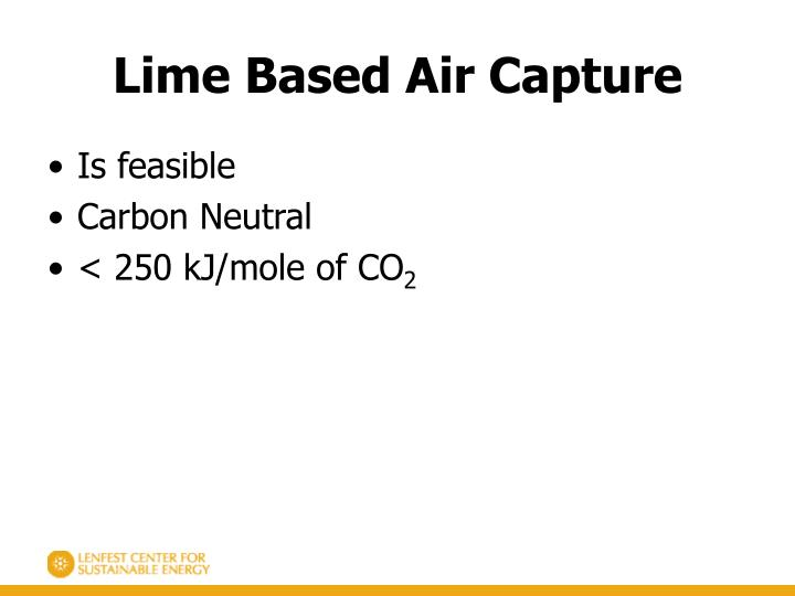 Lime Based Air Capture
