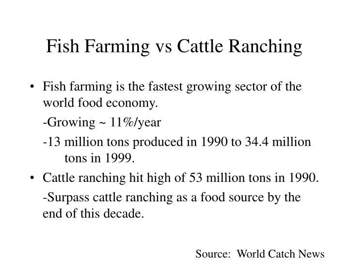 Fish Farming vs Cattle Ranching