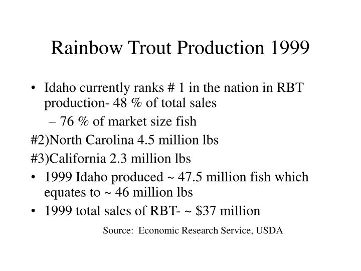 Rainbow Trout Production 1999