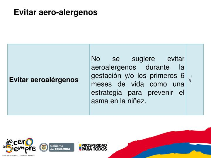 Evitar aero-alergenos