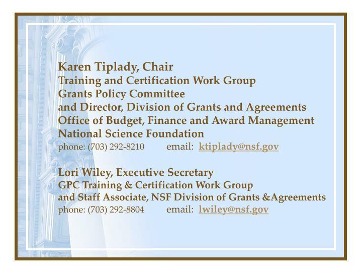 Karen Tiplady, Chair