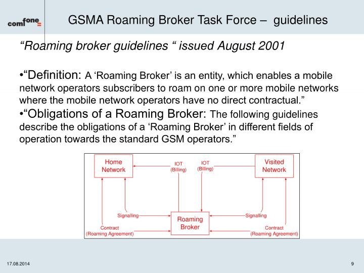 GSMA Roaming Broker Task Force