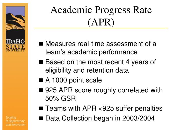 Academic Progress Rate (APR)