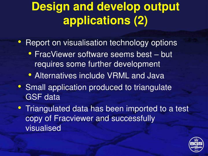 Design and develop output applications (2)