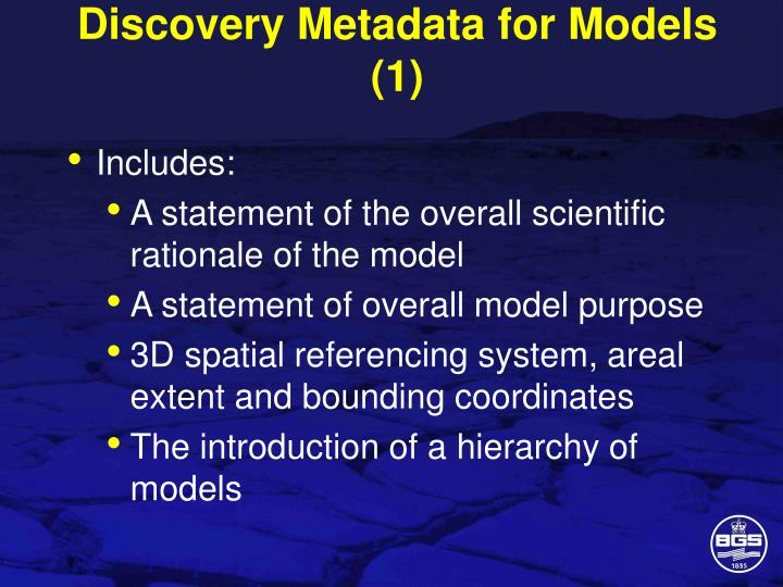 Discovery Metadata for Models (1)