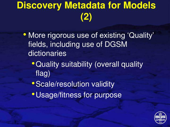 Discovery Metadata for Models (2)
