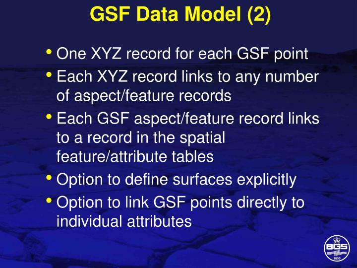 GSF Data Model (2)