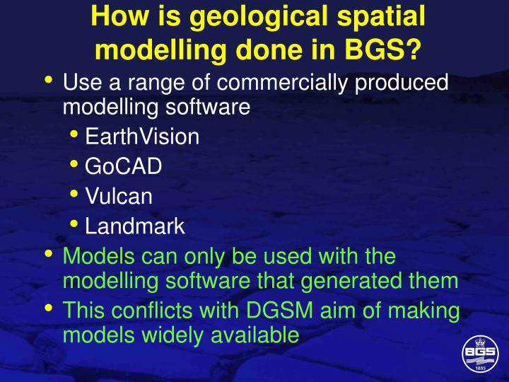How is geological spatial modelling done in BGS?