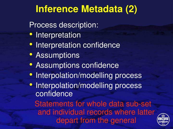 Inference Metadata (2)