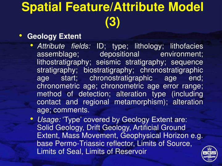 Spatial Feature/Attribute Model (3)