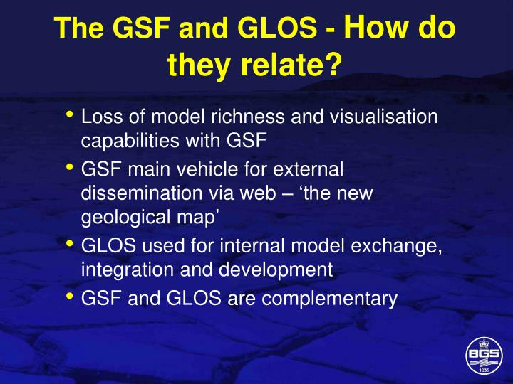 The GSF and GLOS -