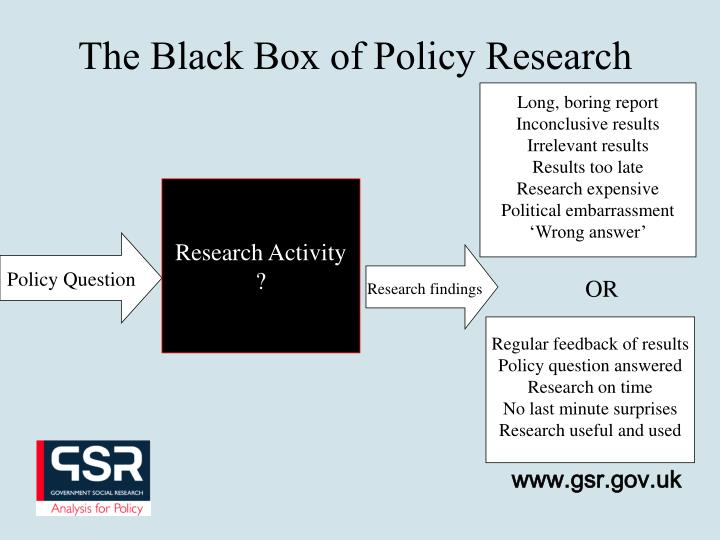 The Black Box of Policy Research