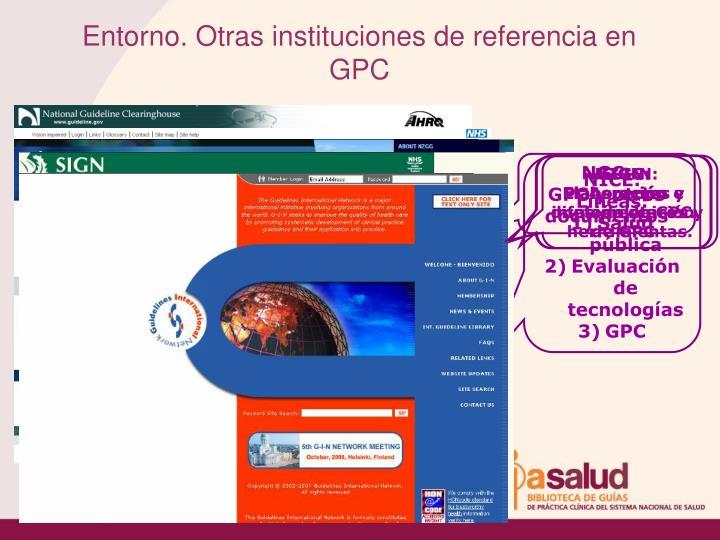 Entorno. Otras instituciones de referencia en GPC