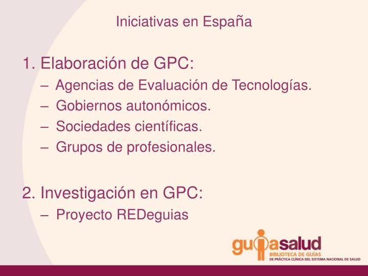 Iniciativas en Espa