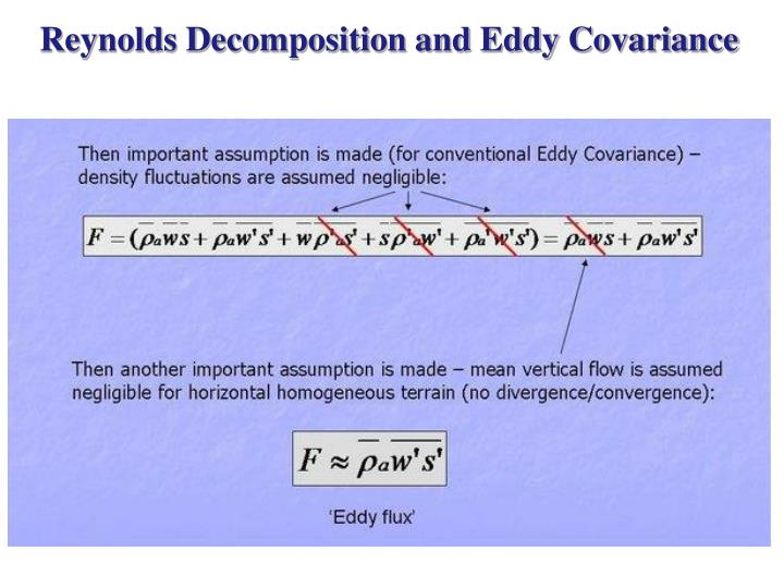 Reynolds Decomposition and Eddy Covariance