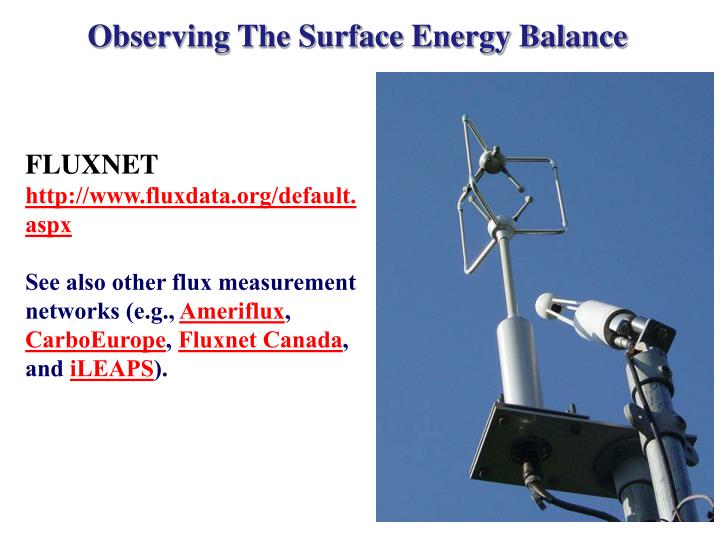 Observing The Surface Energy Balance