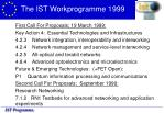 the ist workprogramme 1999
