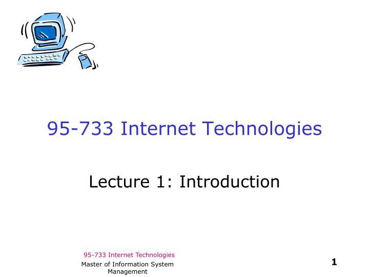 95-733 Internet Technologies