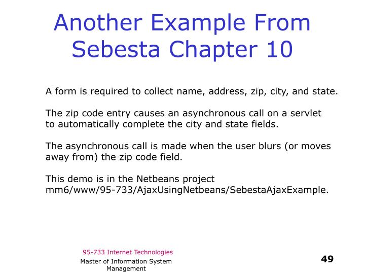 Another Example From Sebesta Chapter 10