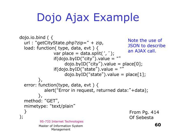 Dojo Ajax Example