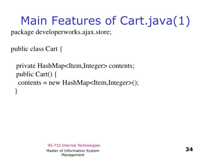 Main Features of Cart.java(1)