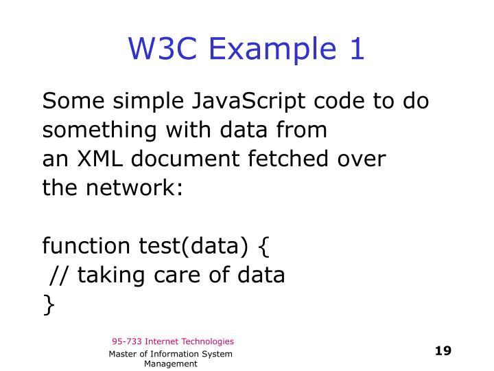 W3C Example 1