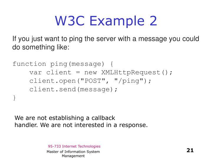 W3C Example 2