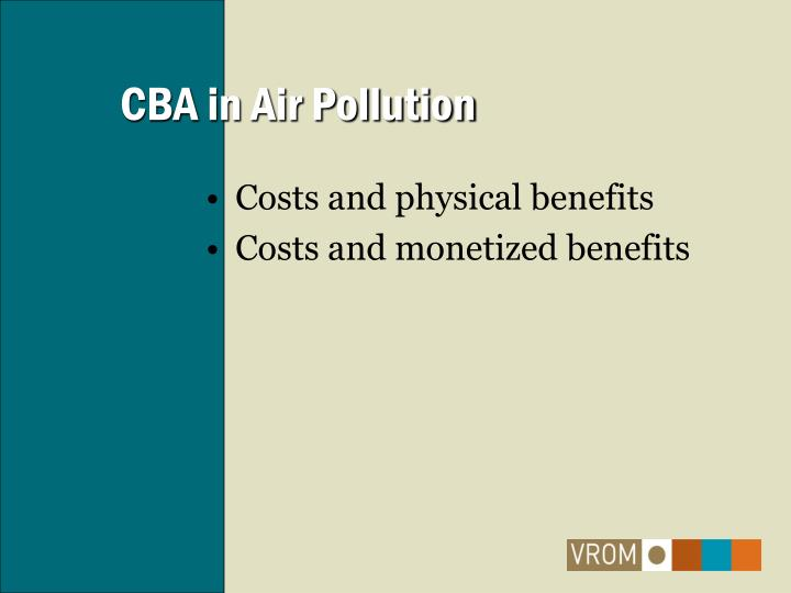 CBA in Air Pollution