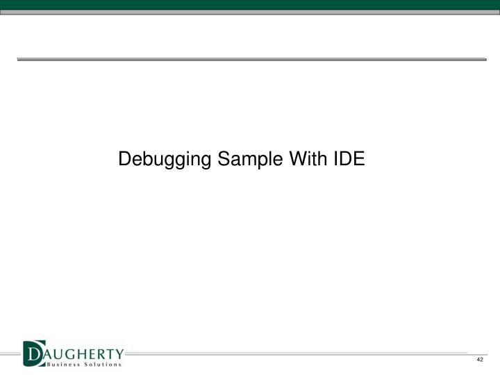 Debugging Sample With IDE