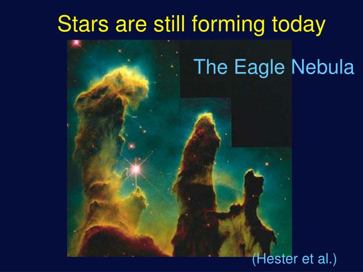 Stars are still forming today