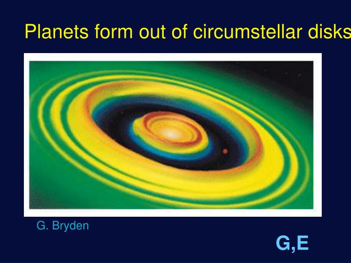 Planets form out of circumstellar disks
