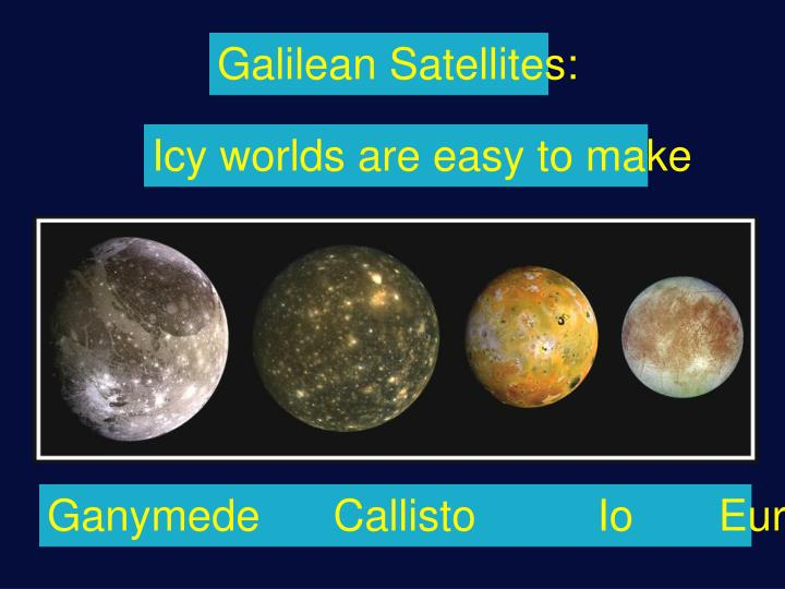 Galilean Satellites: