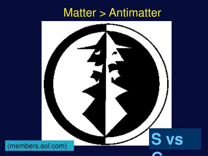 Matter > Antimatter