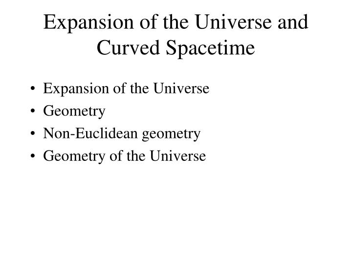 Expansion of the universe and curved spacetime