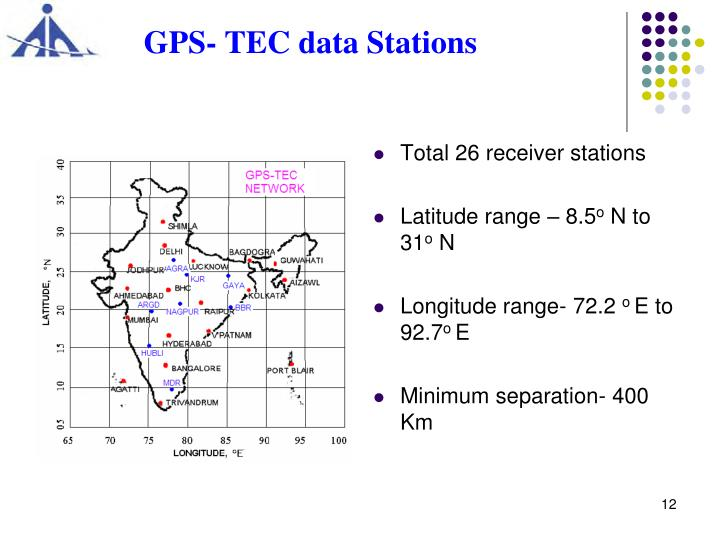 GPS- TEC data Stations
