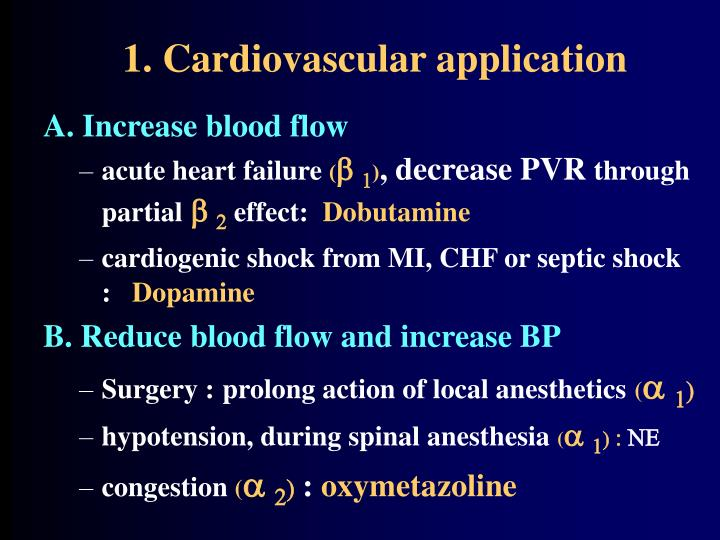 1. Cardiovascular application
