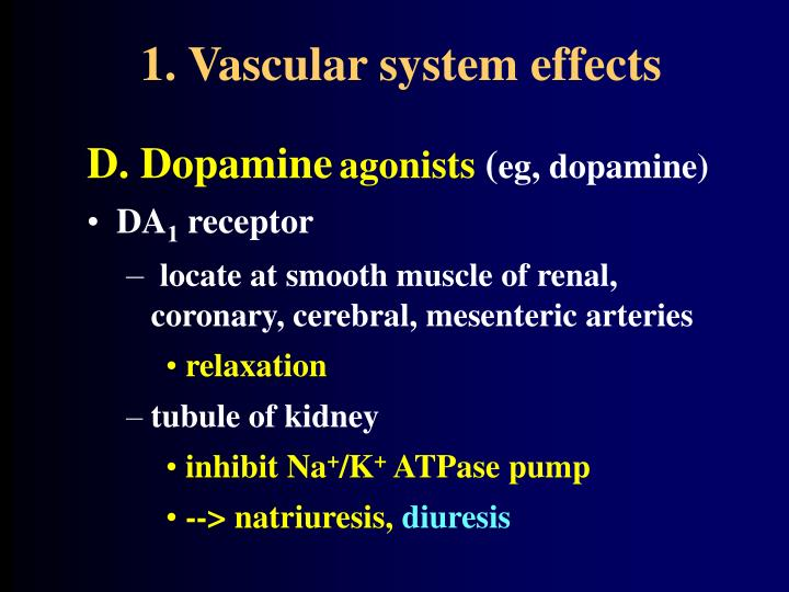 1. Vascular system effects