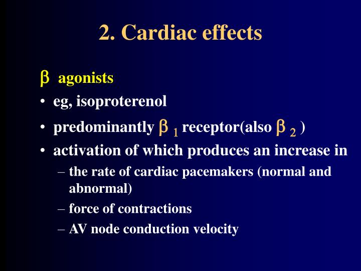 2. Cardiac effects