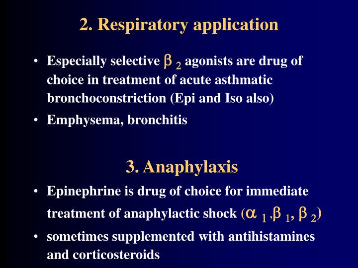 2. Respiratory application