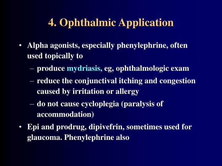 4. Ophthalmic Application