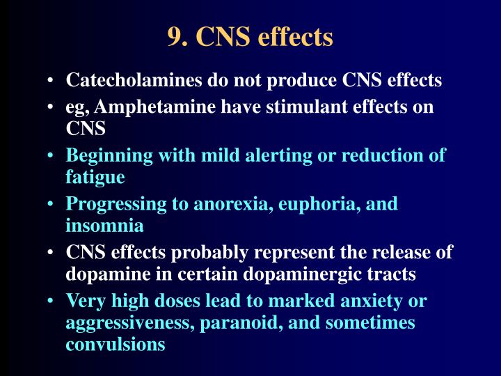 9. CNS effects