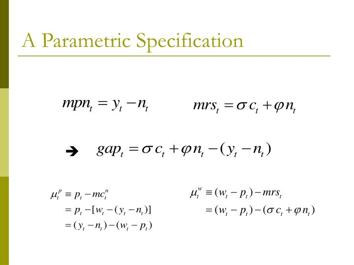 A Parametric Specification
