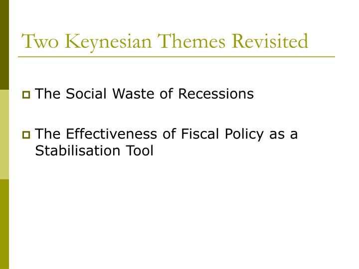 Two Keynesian Themes Revisited