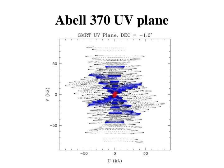 Abell 370 UV plane